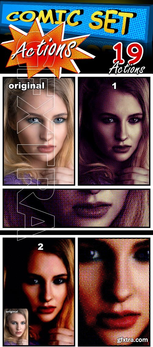 GraphicRiver - Comic Set Actions 22356377