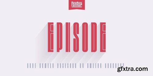Episode Font Family - 2 Fonts
