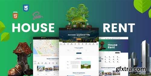 ThemeForest - HouseRent v1.0 - Multi Concept House, Apartment Rent HTML Template - 19723999