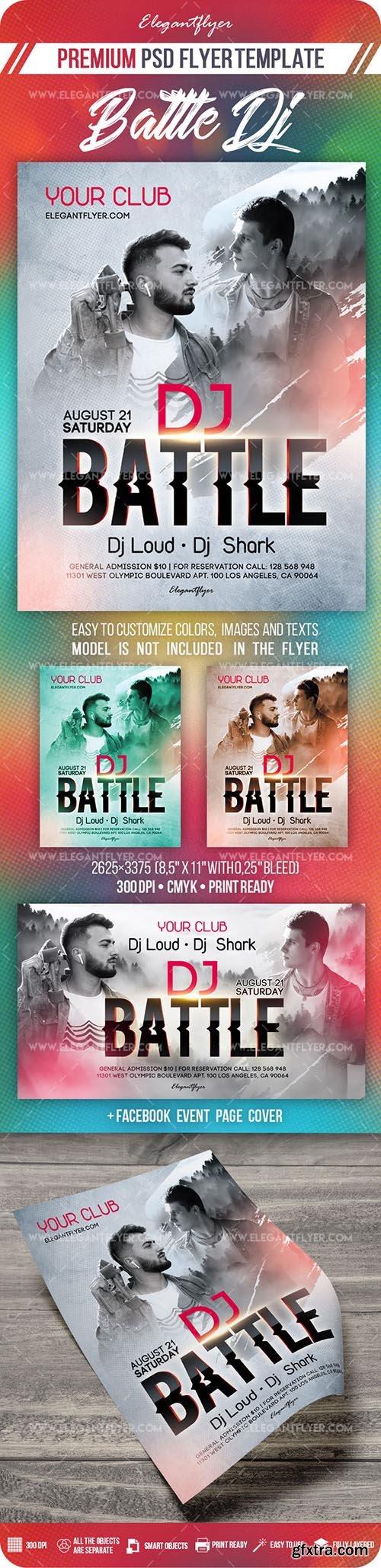Battle Dj – Flyer PSD Template