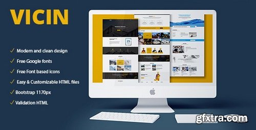 ThemeForest - Vicin v1.0 - Multipurpose Construction & Plumbing HTML Template - 20330669