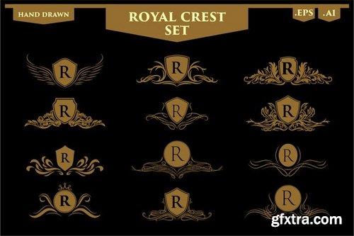 Set of Royal Luxury Crest Logos