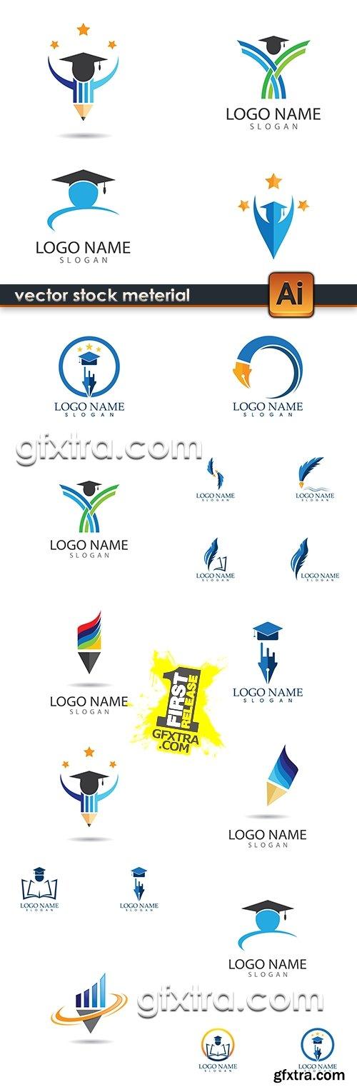 Education logo design school symbols and elements