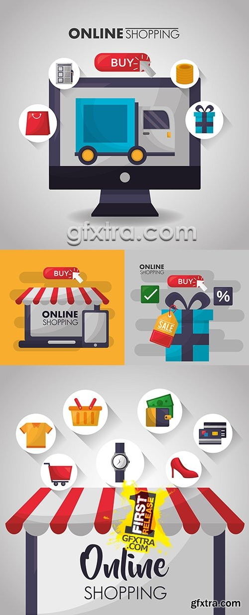Online store purchase and online payment by card