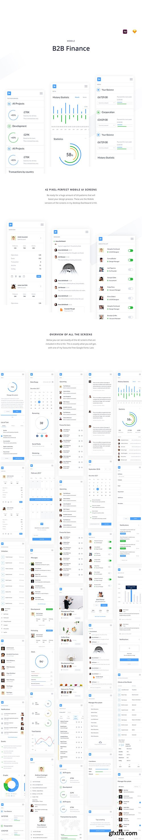 Mobile B2B Finance UI Kit