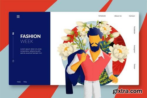Male Fashion - Banner & Landing Page