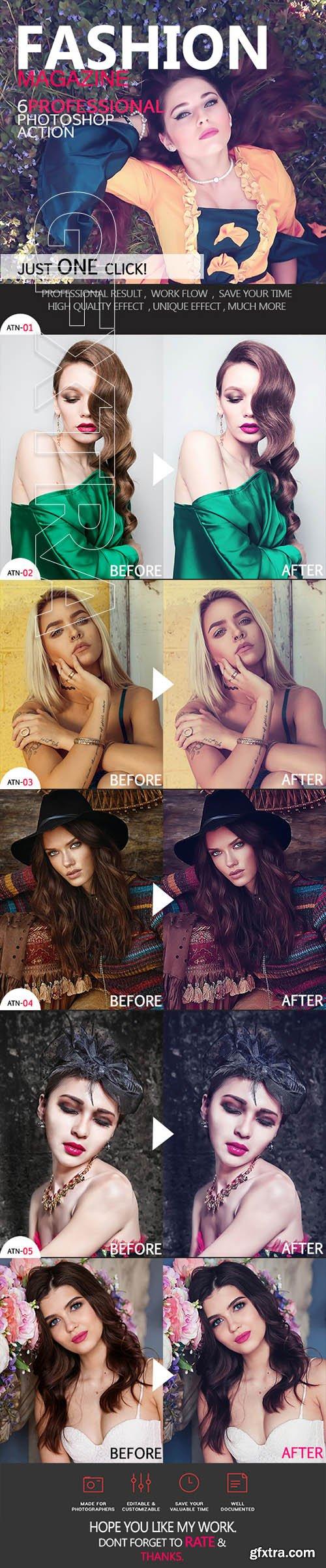 GraphicRiver - Fashion Magazine Photoshop Action 22330766
