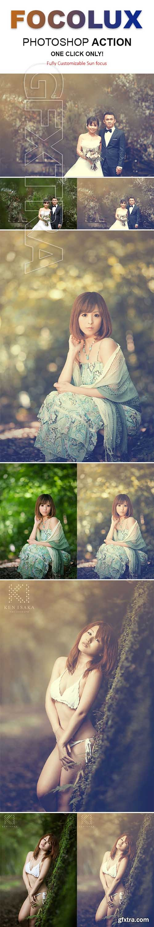 GraphicRiver - Focolux Color Grading & Sun Lighting Effects Photoshop Action 22362708