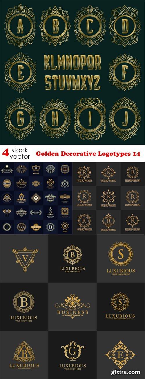 Vectors - Golden Decorative Logotypes 14