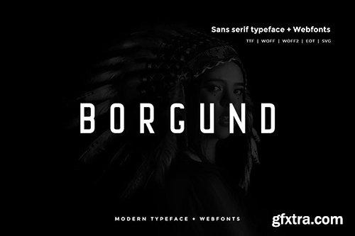 Borgund - Modern Typeface + WebFont
