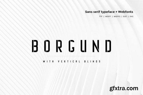 Borgund Blinds - Modern Typeface + WebFont
