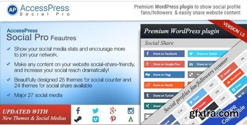 CodeCanyon - AccessPress Social Pro V.1.3.7 - 10429645