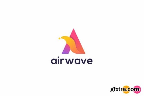 Air Wave Letter A Logo Template