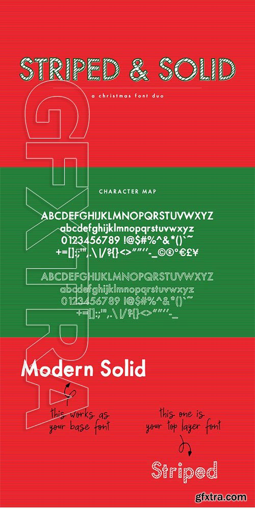 CreativeMarket - Striped & Solid—A Christmas Font Duo 2848433
