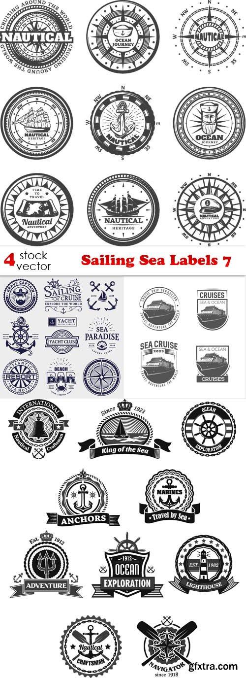 Vectors - Sailing Sea Labels 7