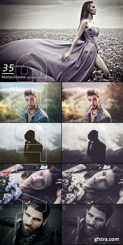 35 Monochrome Portrait Lightroom Presets