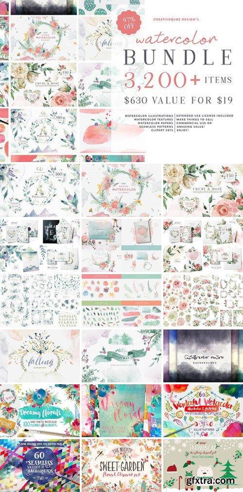 CM - Watercolor Graphics Bundle 2750647