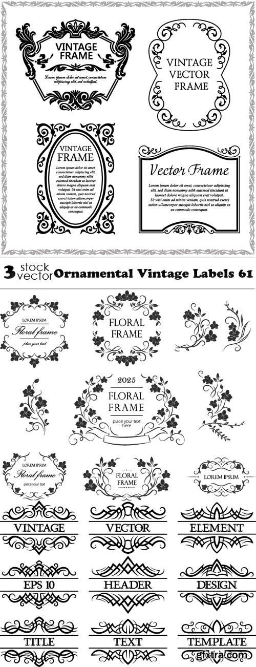 Vectors - Ornamental Vintage Labels 61