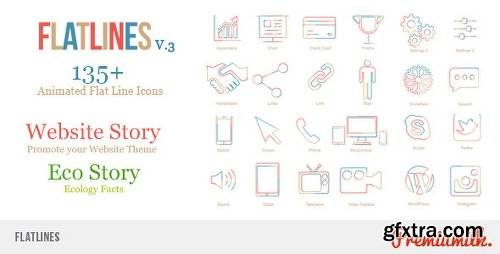 Videohive Flat Lines 9836722