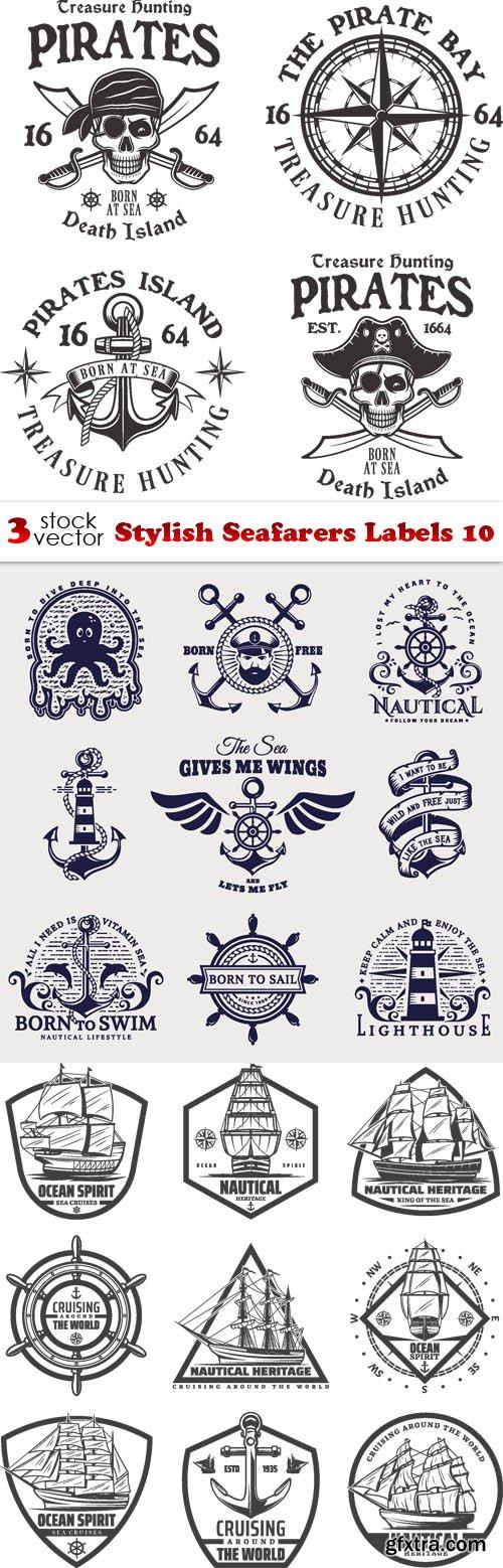 Vectors - Stylish Seafarers Labels 10