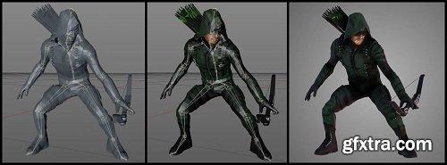 Green Arrow 3D Model