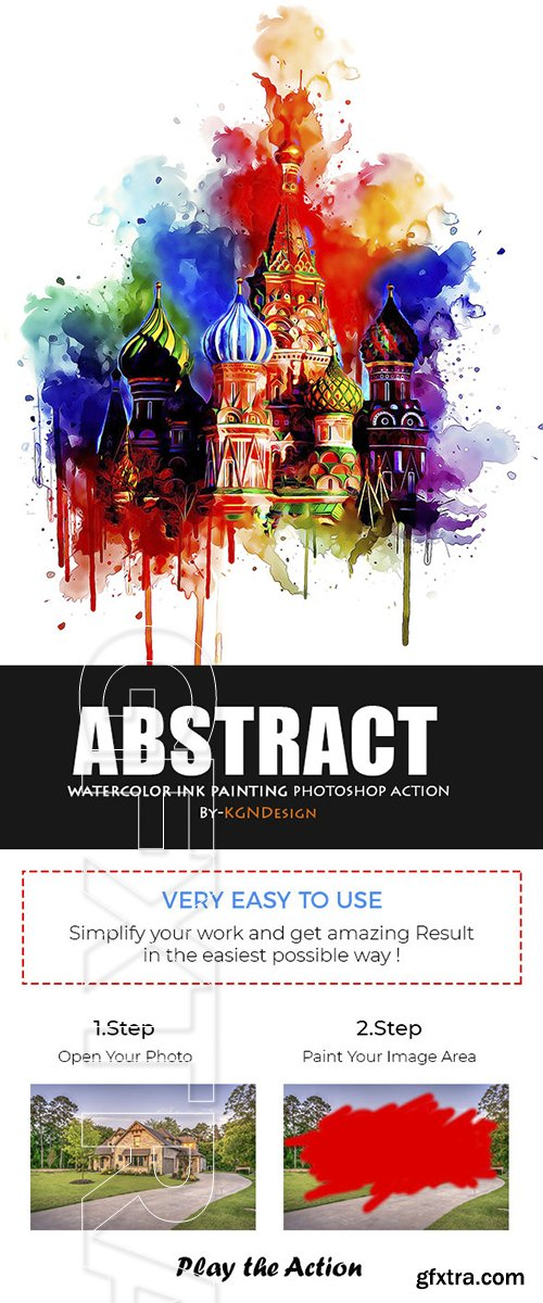 GraphicRiver - Abstract Watercolor Ink Painting Photoshop Action 22415219