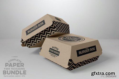 Creativemarket Paper Food Packaging Mockup Bundle 2513245 Gfxtra
