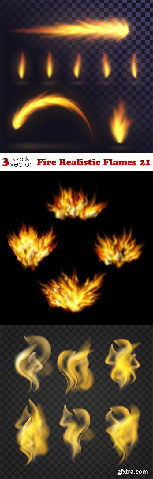Vectors - Fire Realistic Flames 21