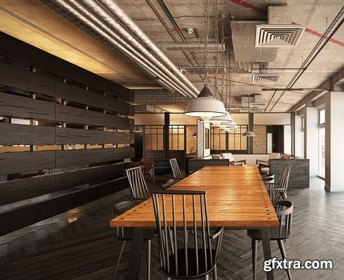 Industrial Conference Rooms Interior Scene Vol. 1