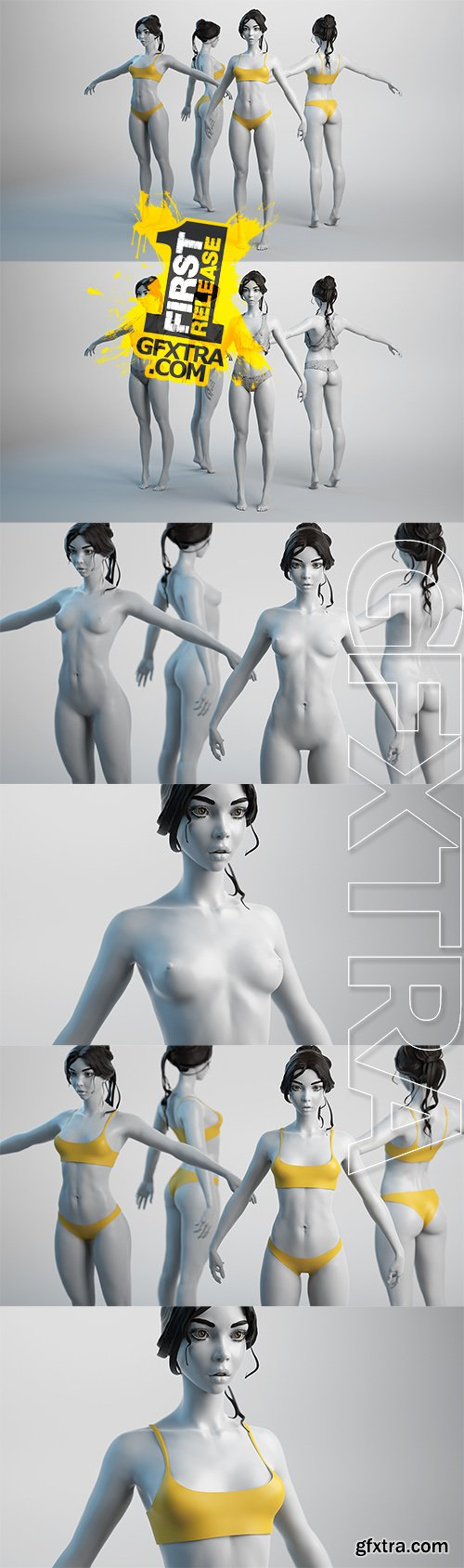 Cubebrush - Female Basemesh 01