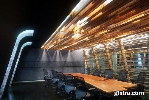 Industrial Conference Room Interior Scene Vol. 2