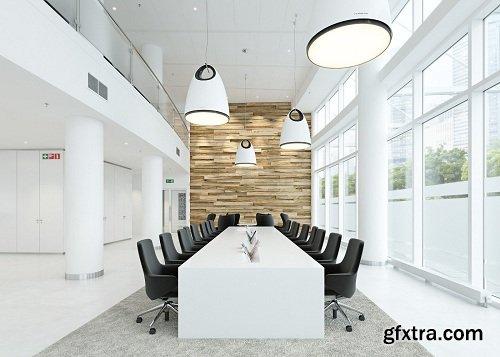 Industrial Conference Room Interior Scene Vol. 3