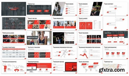 Gym & Fitness - Powerpoint Template