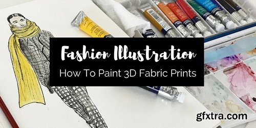 Fashion Illustration- How to Paint Fabric Prints in 3D
