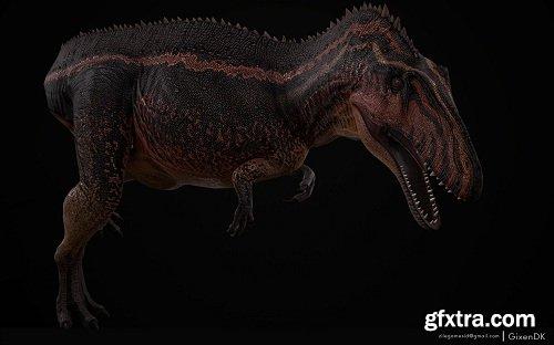 Volcano Dino 3D Model
