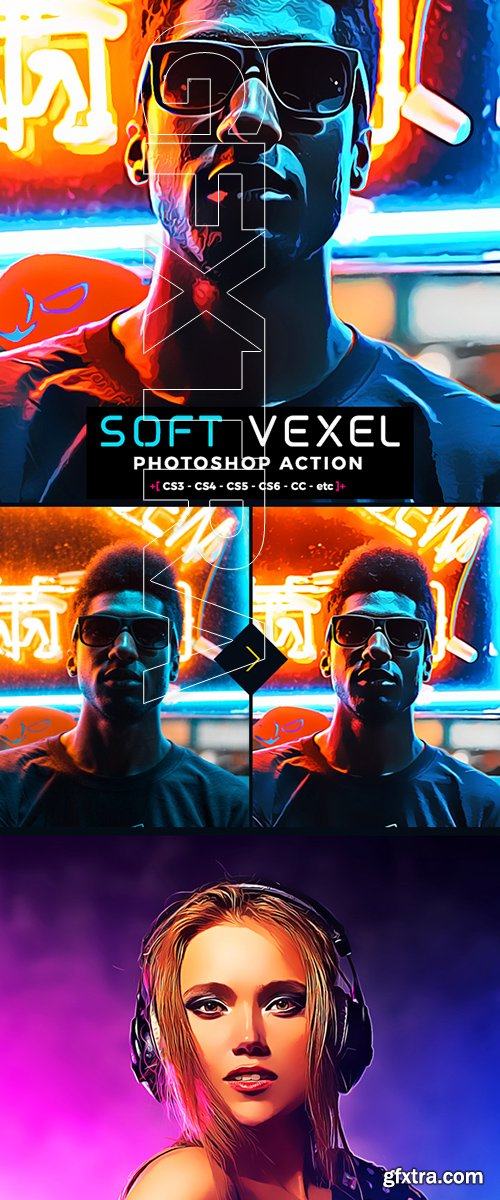 GraphicRiver - Oil Vexel Photoshop Action 22431250