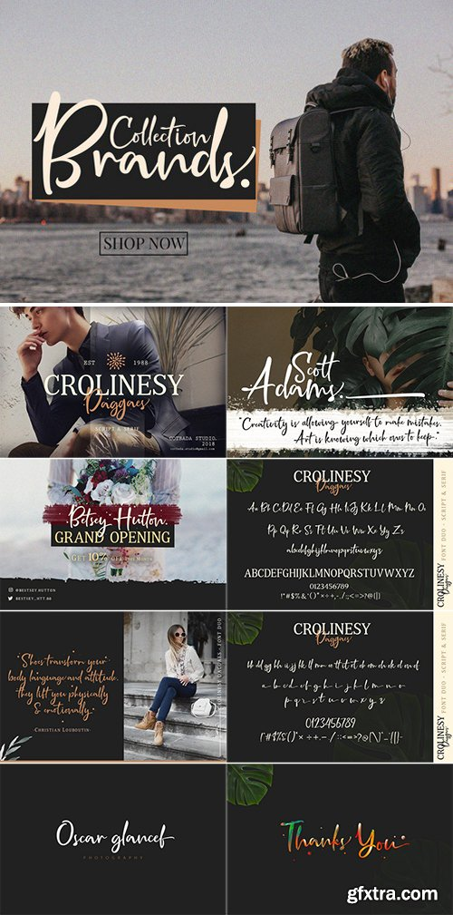 CM - Crolinesy Daggaes Font Duo 2643527