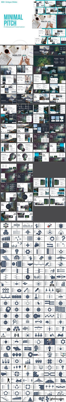 CreativeMarket - Minimal Pitch Powerpoint Template 2855627