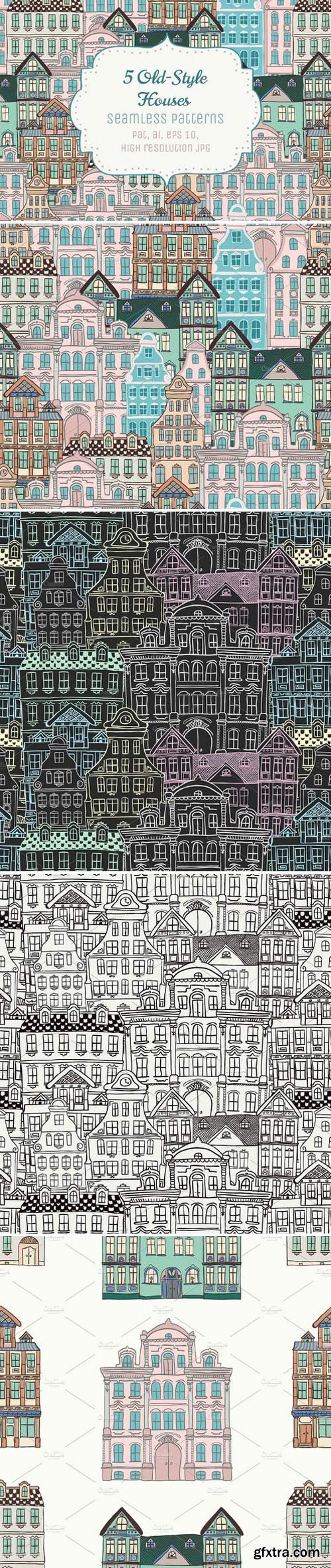 CM - 5 Doodle Seamless Patterns 71804