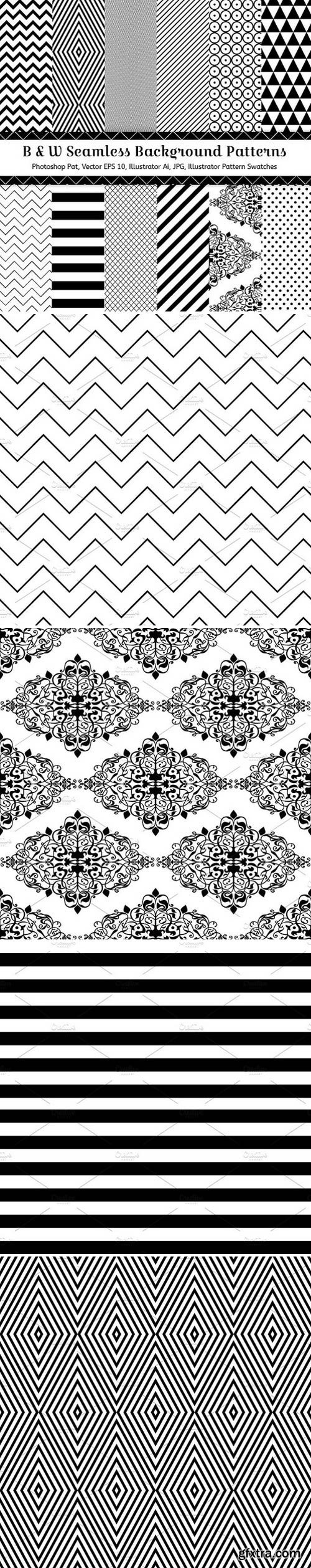 CM - 12 Geometric Seamless Patterns 67626