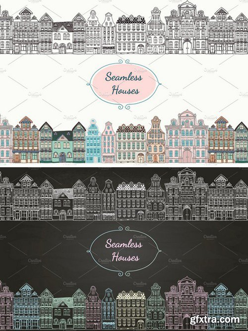 CM - Seamless Old Styled Houses 66574