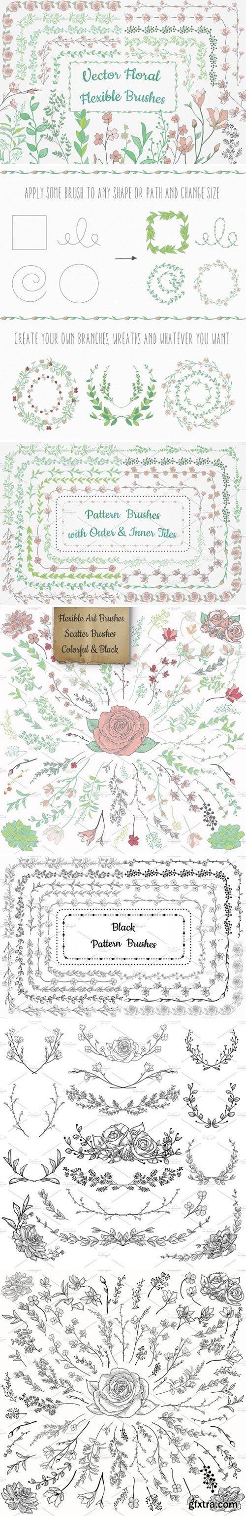 CM - Flexible Floral Brushes 1630761