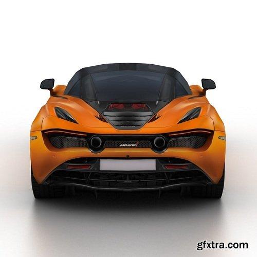McLaren 720S 2018 3D Model
