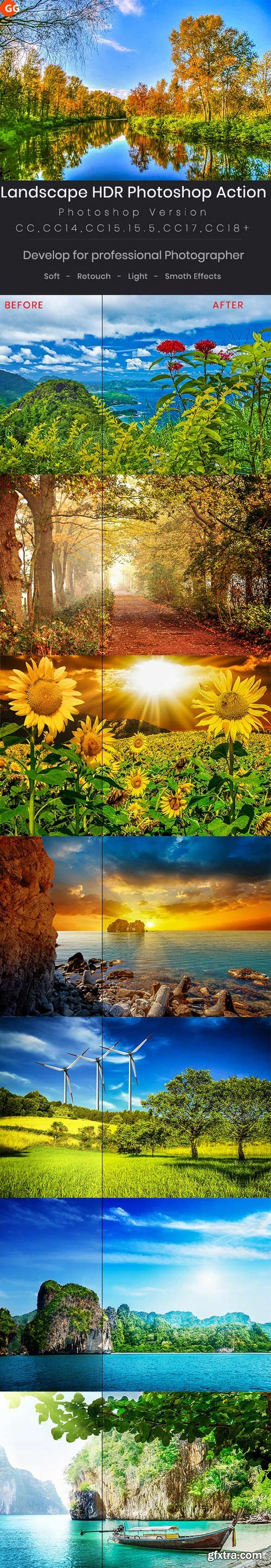 Graphicriver - 22244355 Landscape Hdr Photoshop Action
