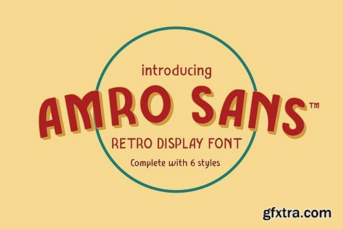Amro Sans Family Font Family - 6 Fonts