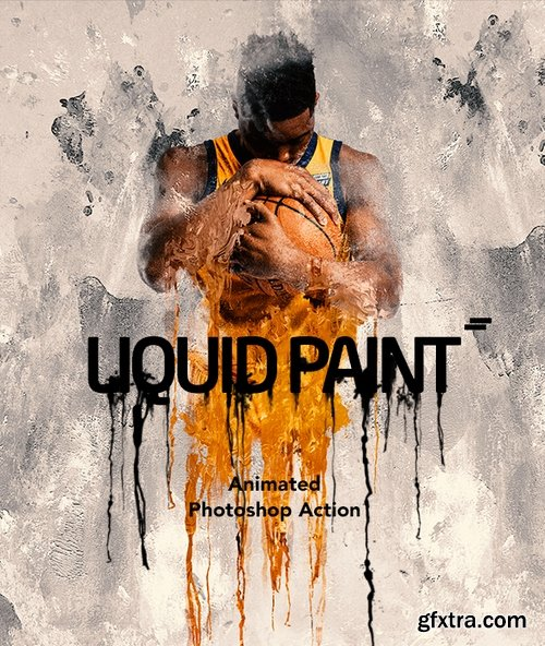 Graphicriver - Gif Animated Liquid Paint Photoshop Action 22245761