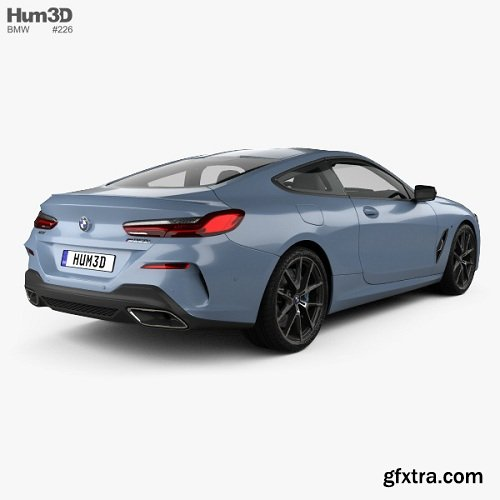BMW 8 Series (G15) M850i Coupe 2019 3D Model » GFxtra