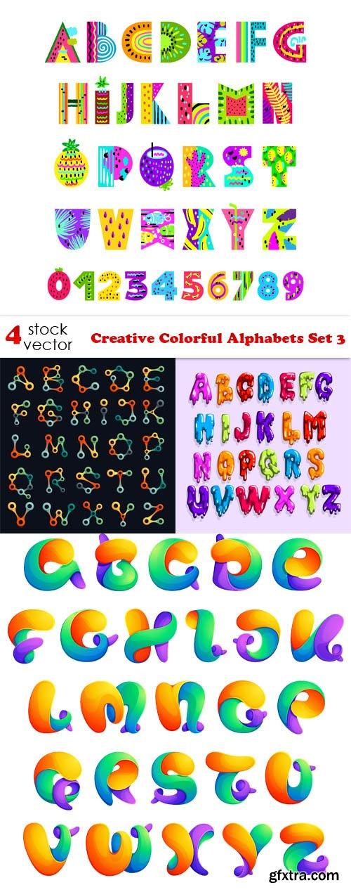 Vectors - Creative Colorful Alphabets Set 3