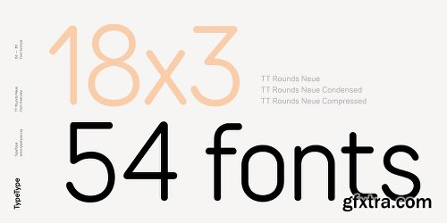 TT Rounds Neue Font Family - 54 Fonts