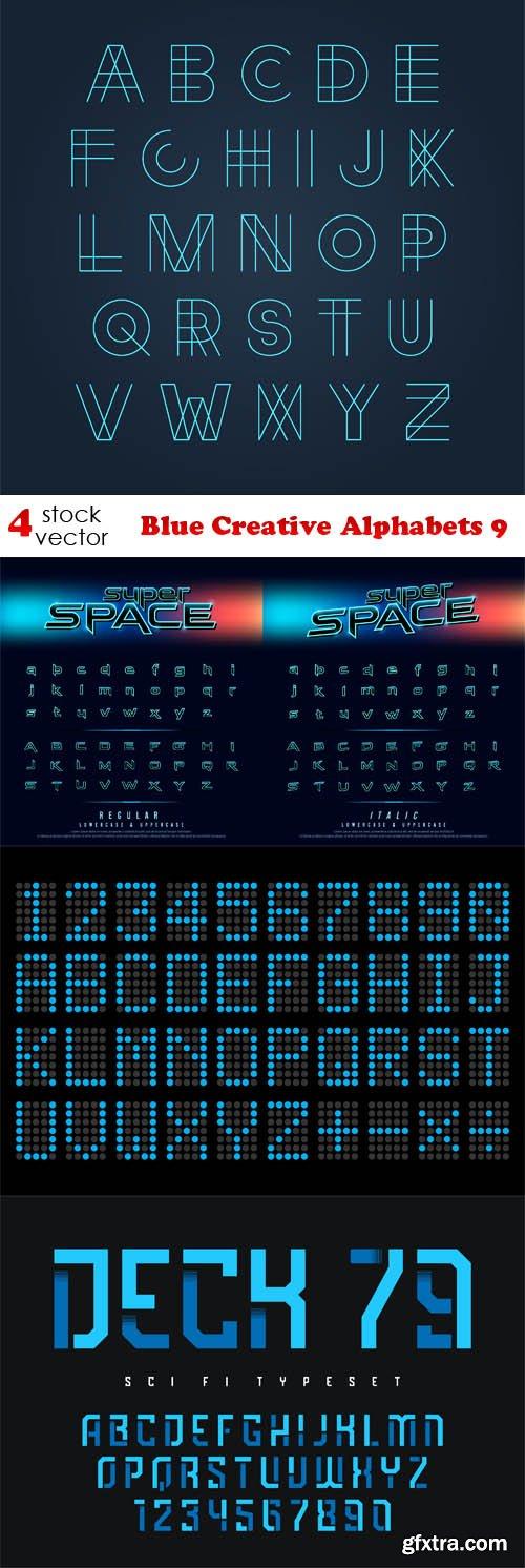 Vectors - Blue Creative Alphabets 9
